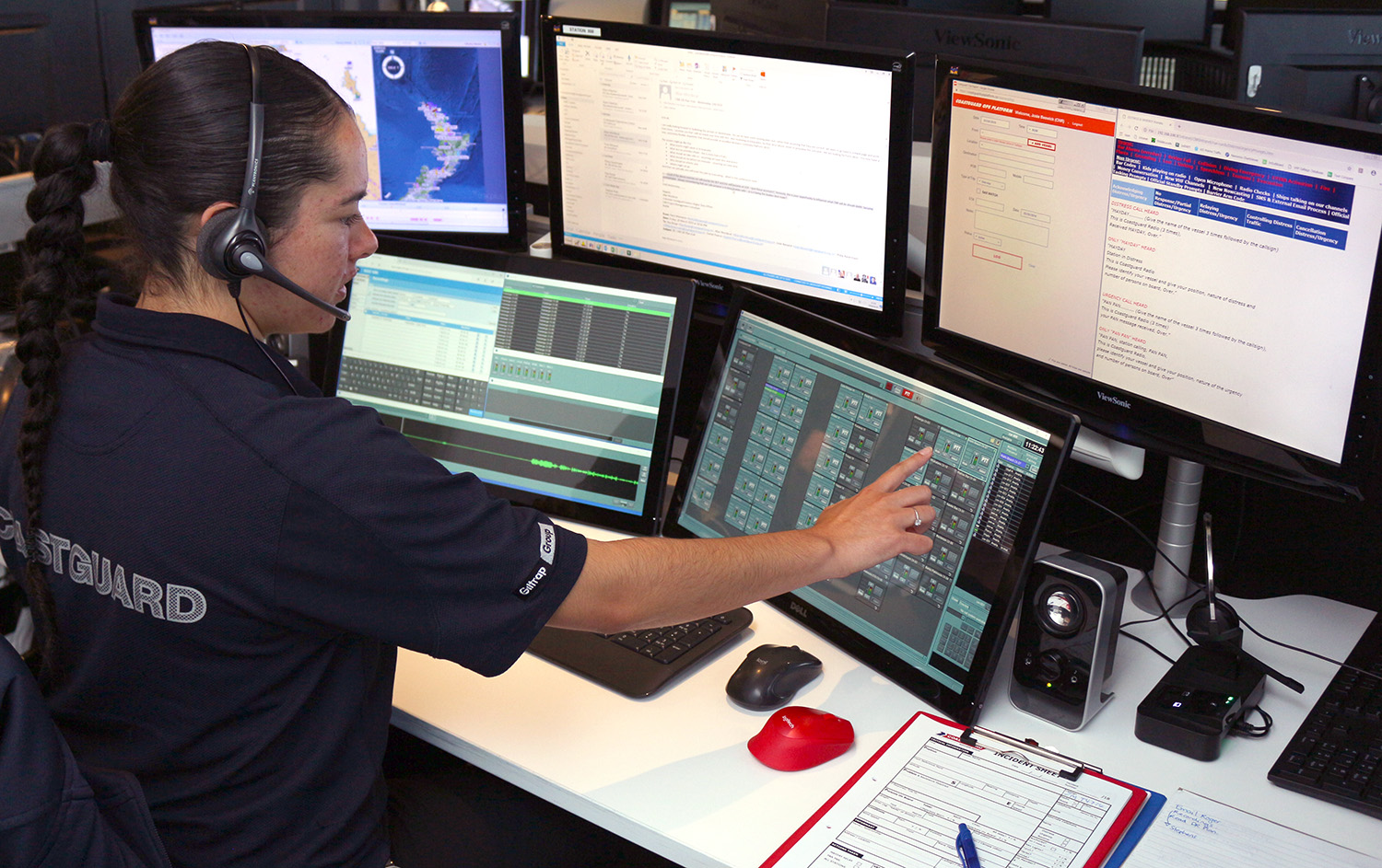 2019 03 Communications   Josie at Wave console (3)