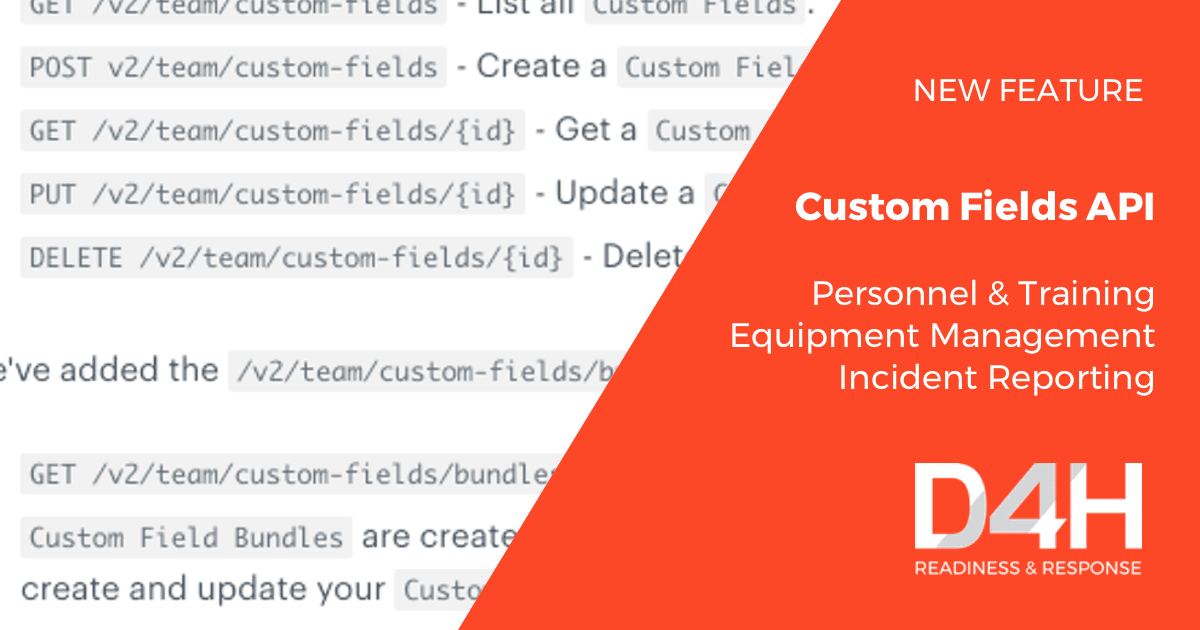 New Feature: Custom Fields API