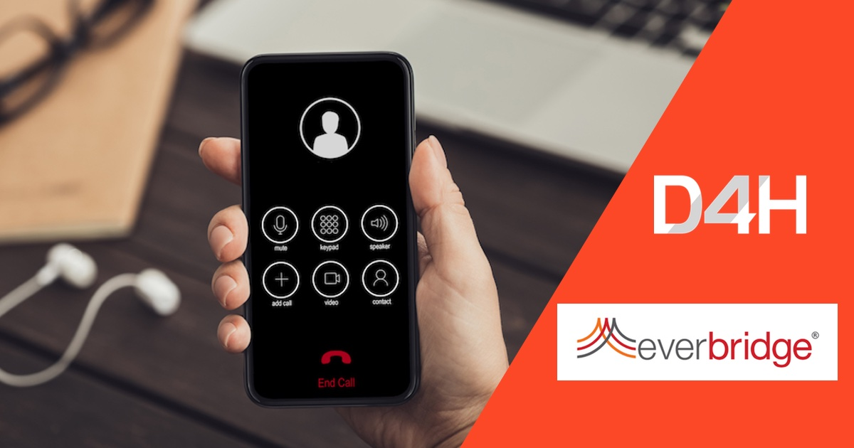You Can Now Make Everbridge Phone Calls From D4H