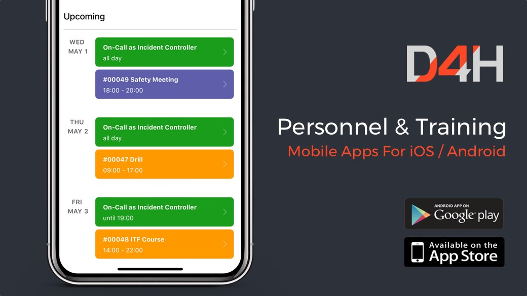 Introducing D4H's Mobile App For Response Team Personnel