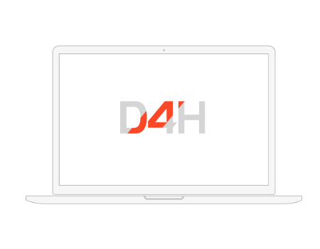 D4H running in a web browser on a laptop.