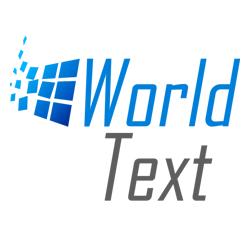 World Text Logo