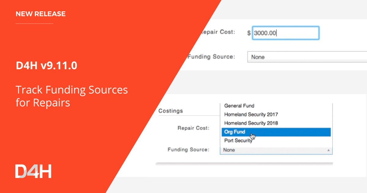 Track Funding Sources for Equipment Repairs