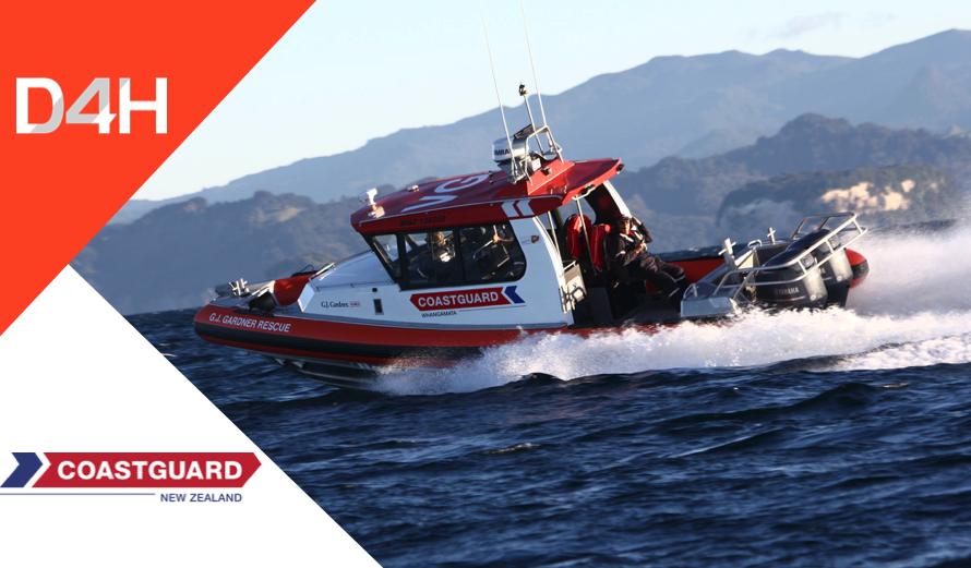 Coastguard New Zealand Deploys D4H Incident Management Platform Nationally