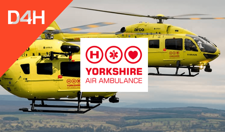 Yorkshire Air Ambulance Use D4H To Support Helicopter Emergency Medical Service