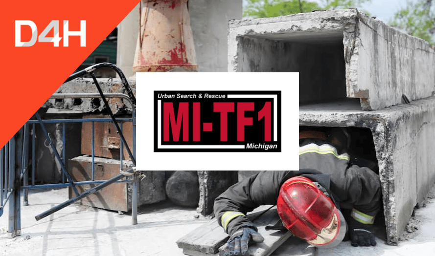 How Michigan USAR Task Force 1 Stays Mission Ready Using D4H