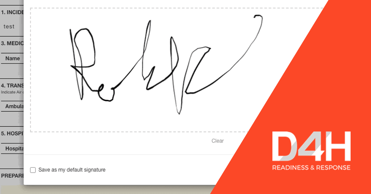 D4H Introduces Electronic Signatures on Incident Paperwork—making ICS Forms easy