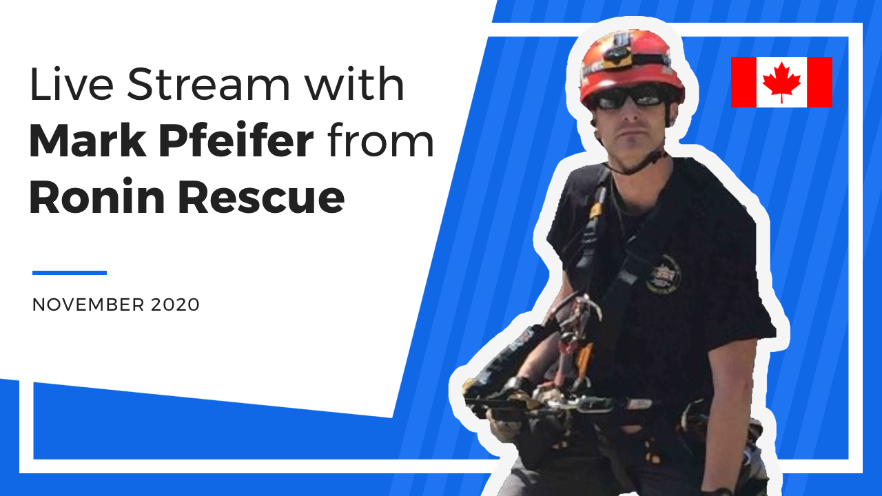 Live Stream Episode 1: The world of rescue stand-by, confined space, and rope access.